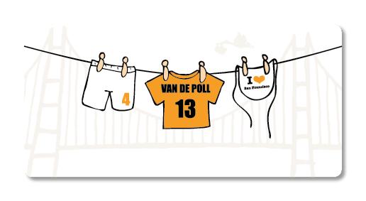 ontwerp illustratie geboortekaartje san francisco