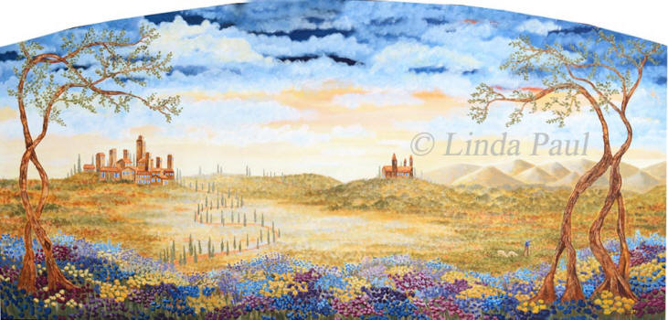 Fields Of Tuscany Original Impressionist Landscape Painting