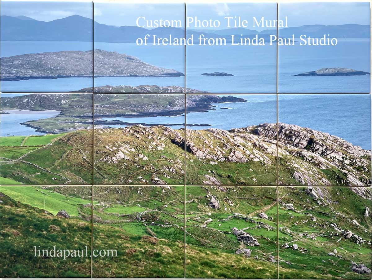 custom ireland tile mural from photo irish countryside