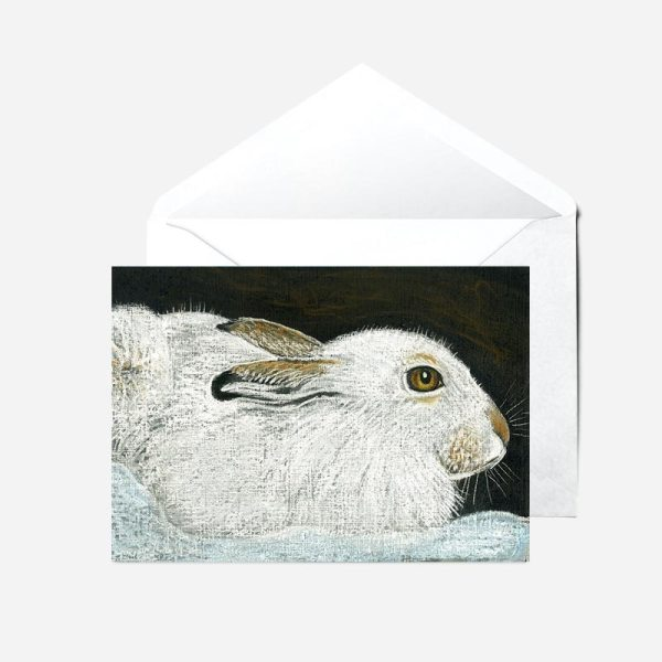 Mountain Hare in Winter - Card