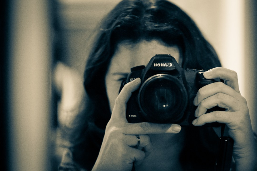 Fine art photographer Linda Scannell behind the camera