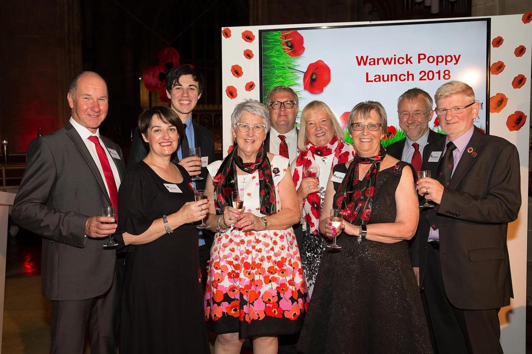 Warwick Poppies 2018 launch - team members