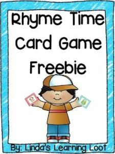 Rhyming words freebie