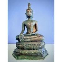 Bronzen Boeddha beeld in U-thong stijl