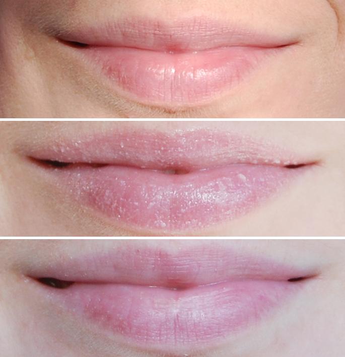 lip swatch lip scrub Kiko Milano review lip exfoliator scrub labbra beeswax shea butter, beauty blog lifestyle by linda ervaring