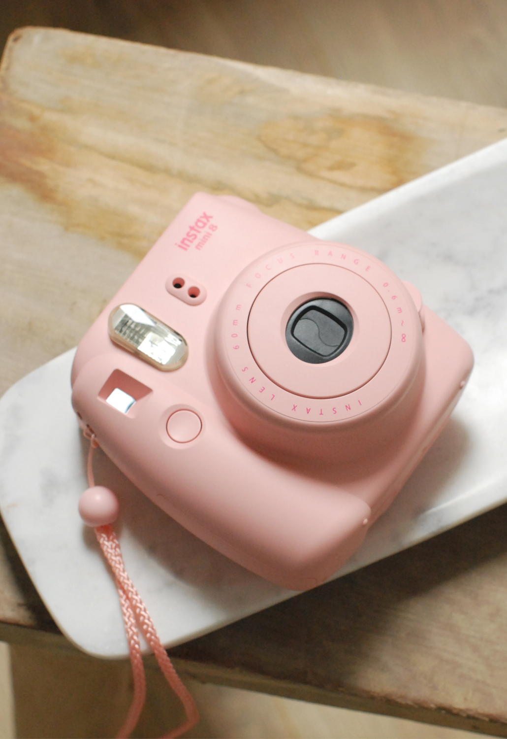 FujiFilm instax mini 8 instant camera pink lifestyle by linda