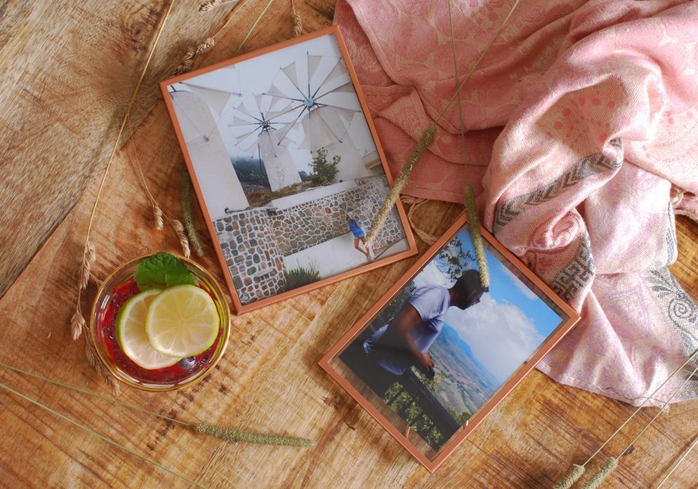 Blokker shoplog rose goud koper fotolijst fotolijstje