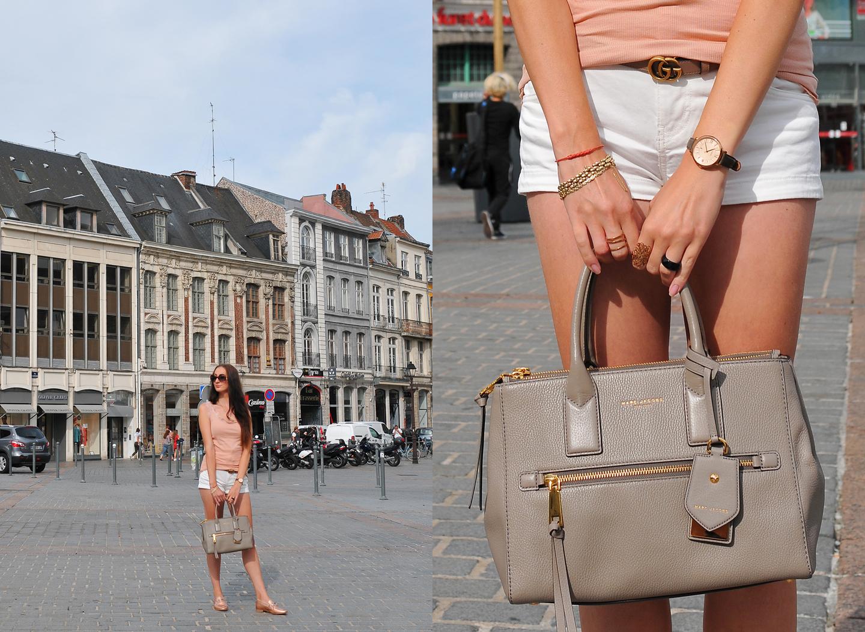 Lille Diaries Frankrijk Marc Jacobs Recruit East-West Tote Bag Gucci belt pink