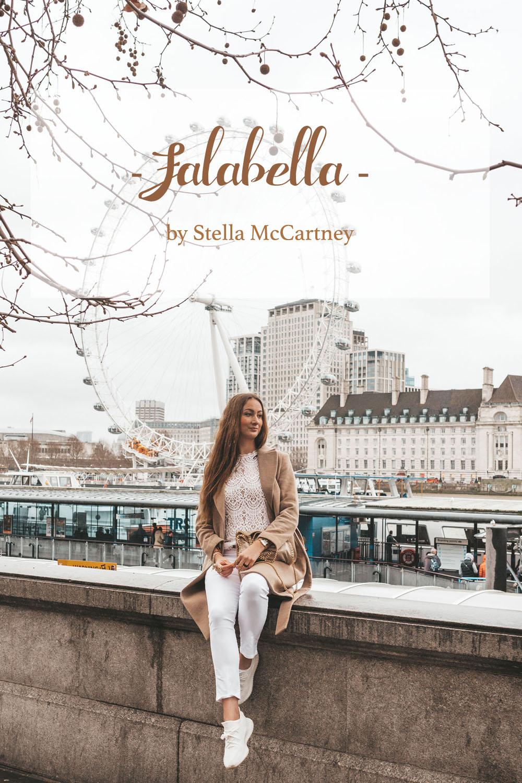 Stella McCartney Falabella Mini Tote shaggy deer Clotted cream
