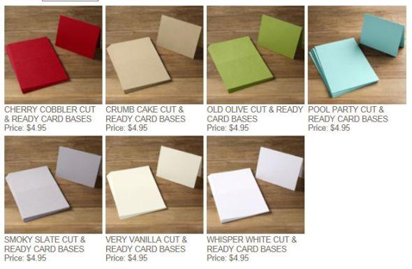 Cut & Ready Card Bases - 2