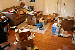 Feng Shui Declutter Use your camera to really see. Cluttered living room.