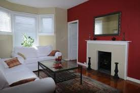red fireplace accent wall failure