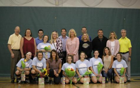 Girls' Volleyball falls 1-2 to Oakville on Senior Night