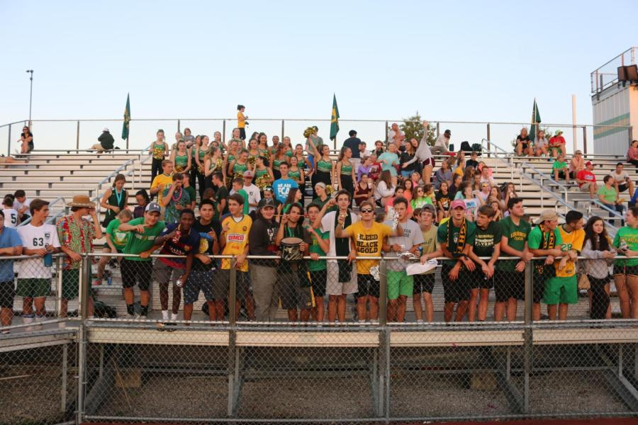 Student+section+at+the+Homecoming+Soccer+Game.