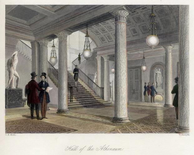 Klassisk herrklubb i London,  Athenaeum Club grundad 1824 [Bild Wikipedia]