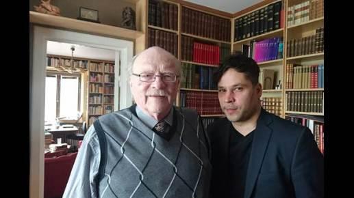 Jan Myrdal (t v) och Martin Wicklin (t h) Bild: SVT