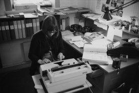 Ingalill Englund skötte bokföring och annat kontorsarbete.