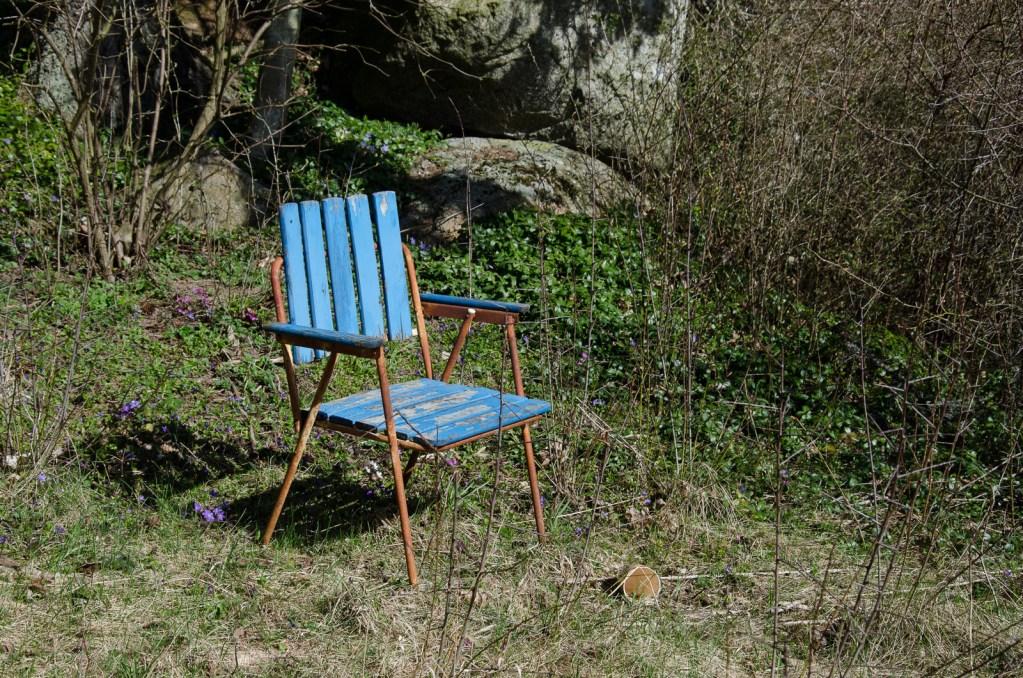 Rostig trädgårdsstol