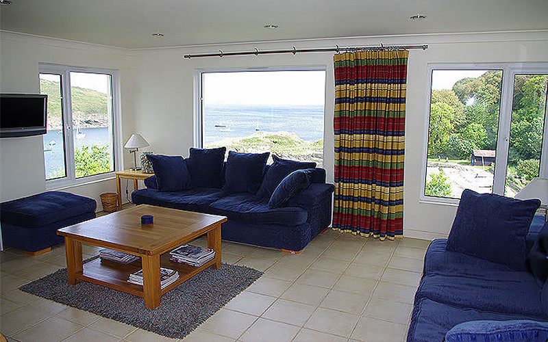 Chymor Cottage - lounge with sea views - self catering in Cornwall