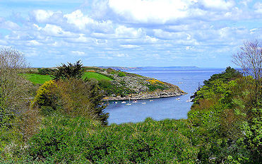 sea views from The Dell in Gillan Cornwall