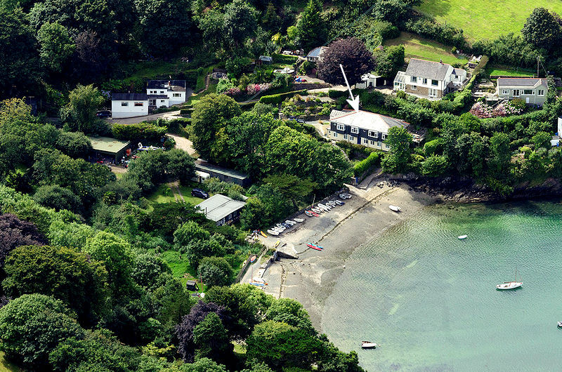 Gillan Cove House - from the air in Cornwall