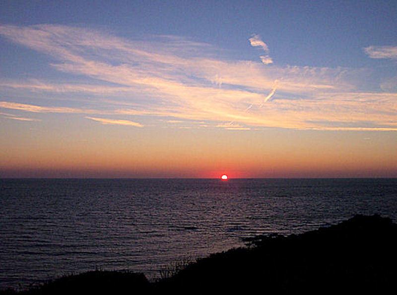 Sunset Coverack Cornwall