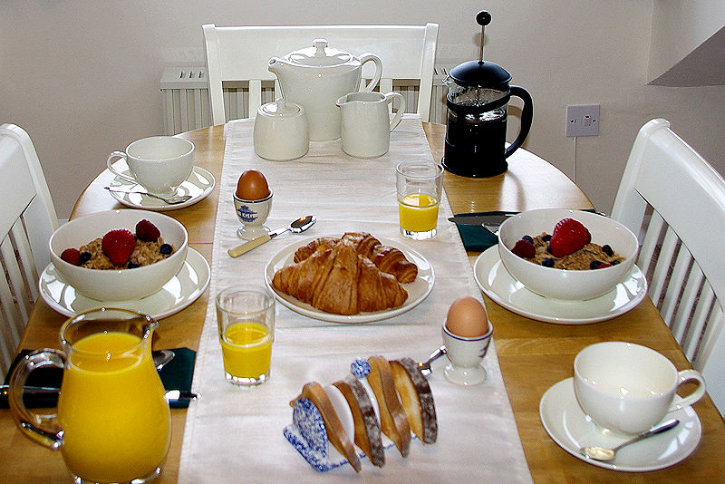 Cornwall Cottages from Lindford House - breakfast time