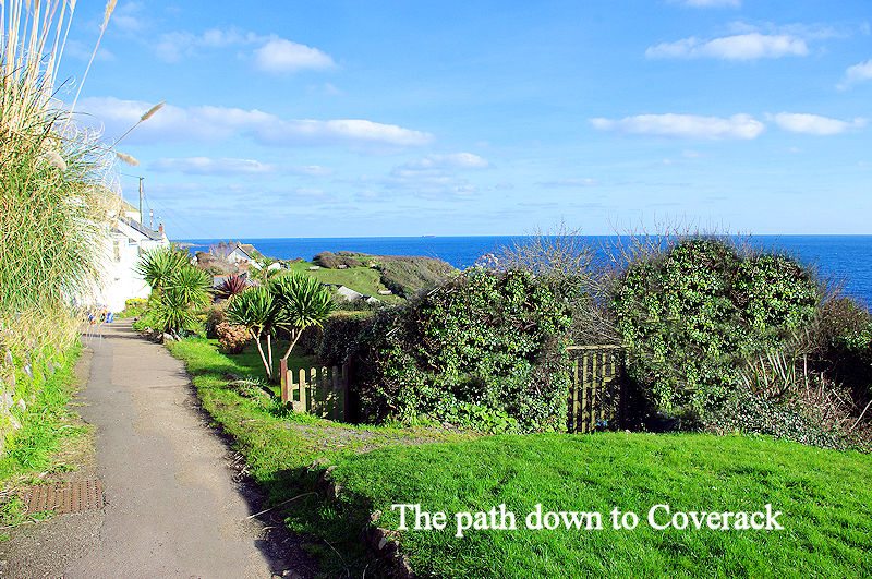 The path down to Coverack in Cornwall