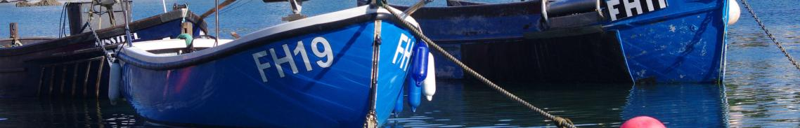 Boats at Coverack Cornwall