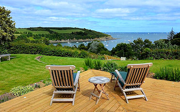 Imagine sitting here? Self Catering From Lindford House in Cornwall