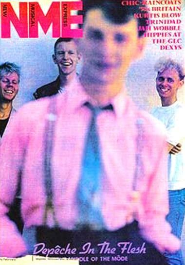 La copertina di NME con i Depeche Mode scattati da Anton Corbijn - 1981