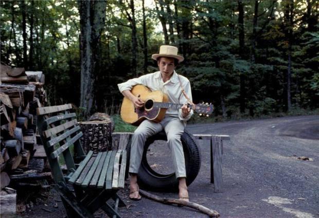 Bob Dylan a Woodstock nel 1968 fotografato da Elliott Landy