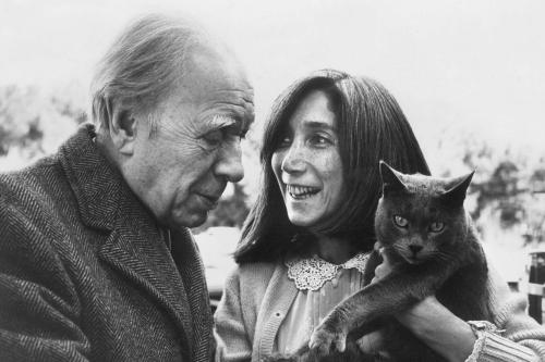 Borges con la seconda moglie María Kodama