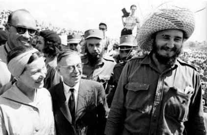 Jean-Paul Sartre, Simone De Beauvoir e Fidel Castro