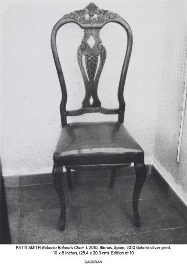 Sedia di Roberto Bolaño a Blanes fotografata da Patti Smith