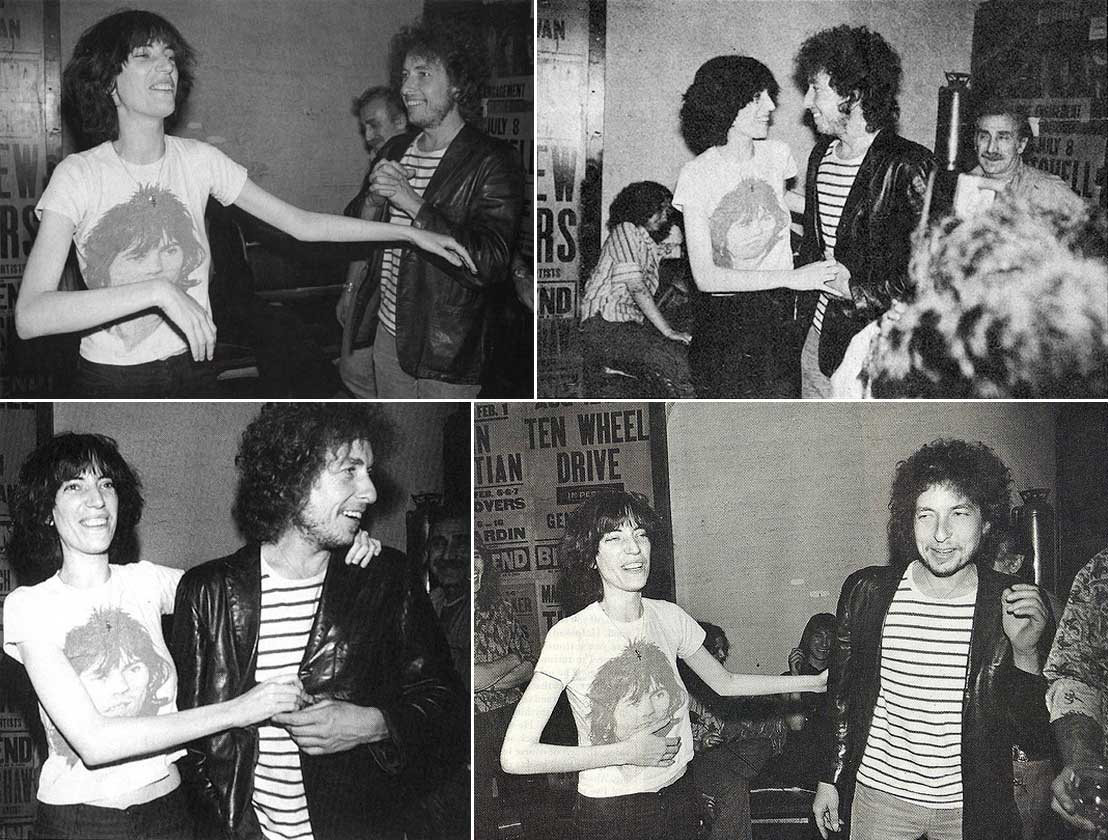 Patti Smith e Bob Dylan