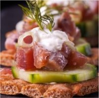 Amazing Crispbread & Flatbread toppings-ceviche