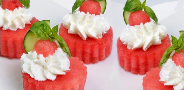 Watermelon & Ricotta Appetizer