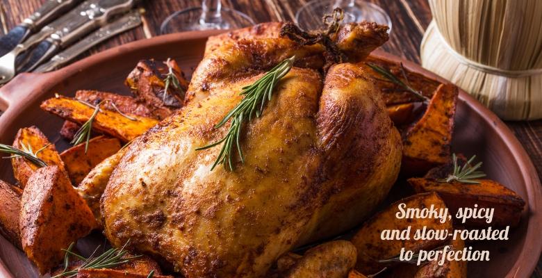 Paprika Roasted Chicken & Sweet Potatoes-slider