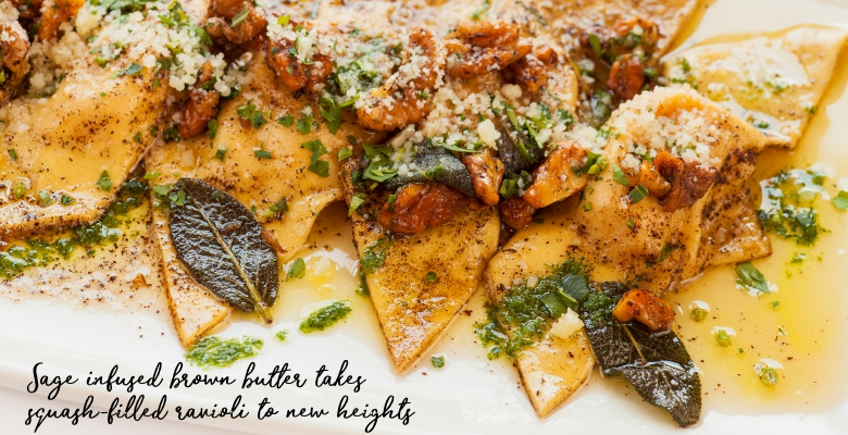 Butternut Squash Ravioli with Browned Sage Butter-main