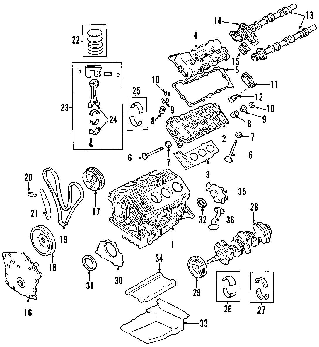 Chrysler Sebring Engine Crankshaft Seal Rear All Models