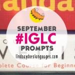 #IGLC Instagram Language Challenge September Prompts!