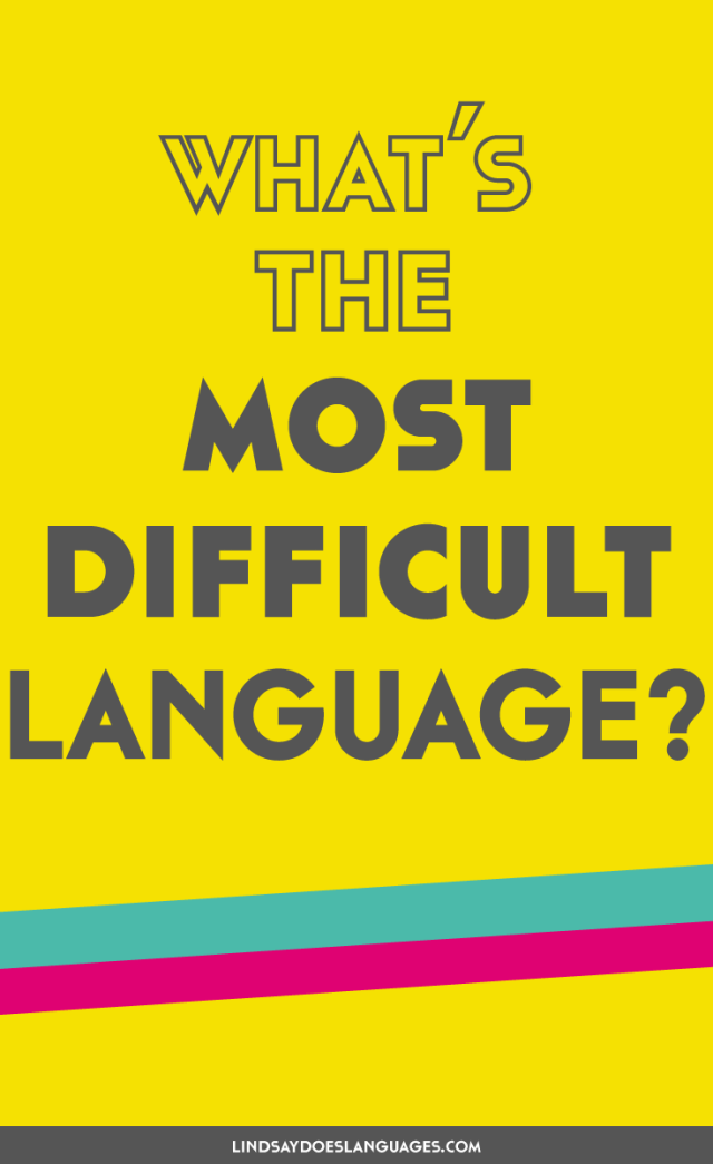 The hardest language in the world is Japanese, right? Or is it Arabic? Korean maybe? Let's clear things up once and for all. What's the most difficult language in the world?