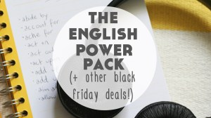 The English Power Pack (+ Other Black Friday Language Learning Deals!)