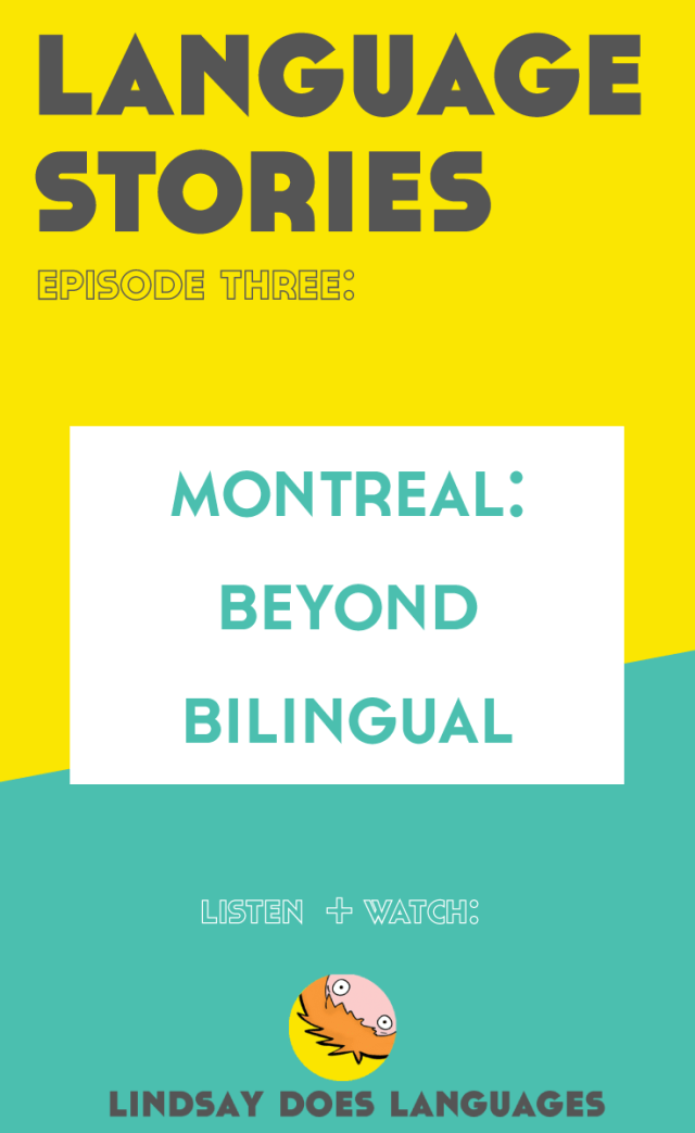Language Stories is a new series discovering languages around the world + meeting the people who speak them. Click through for episode 3 in Montreal! >>