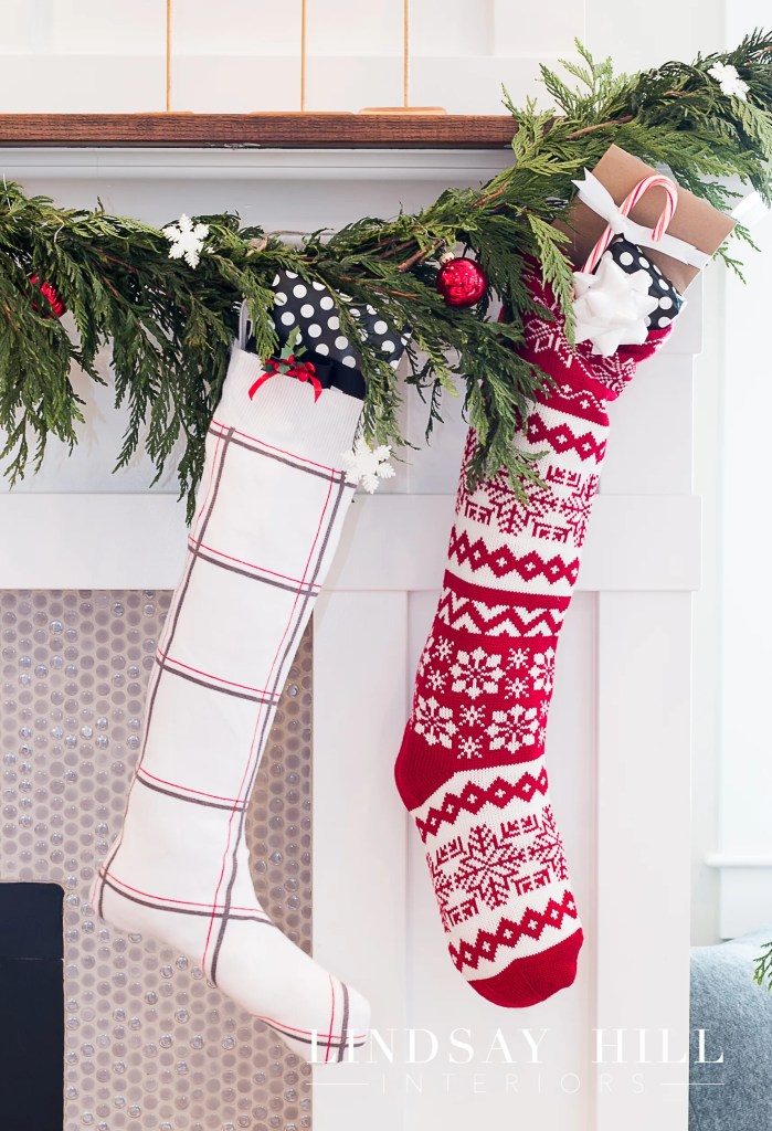 two christmas stockings