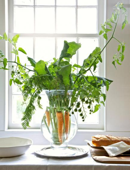 beautiful easter and spring carrot centerpiece