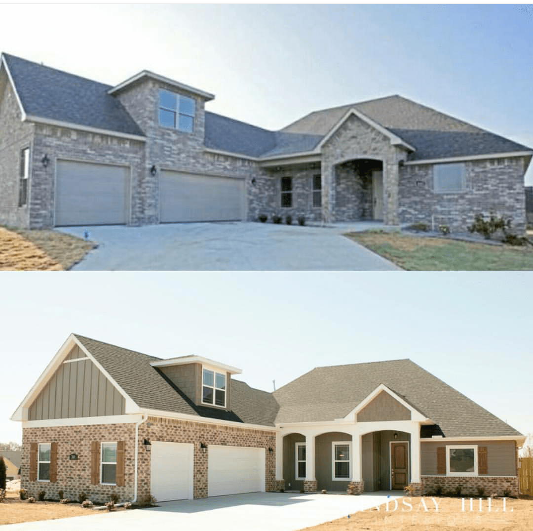 personalizing a builder 39 s tract home add curb appeal