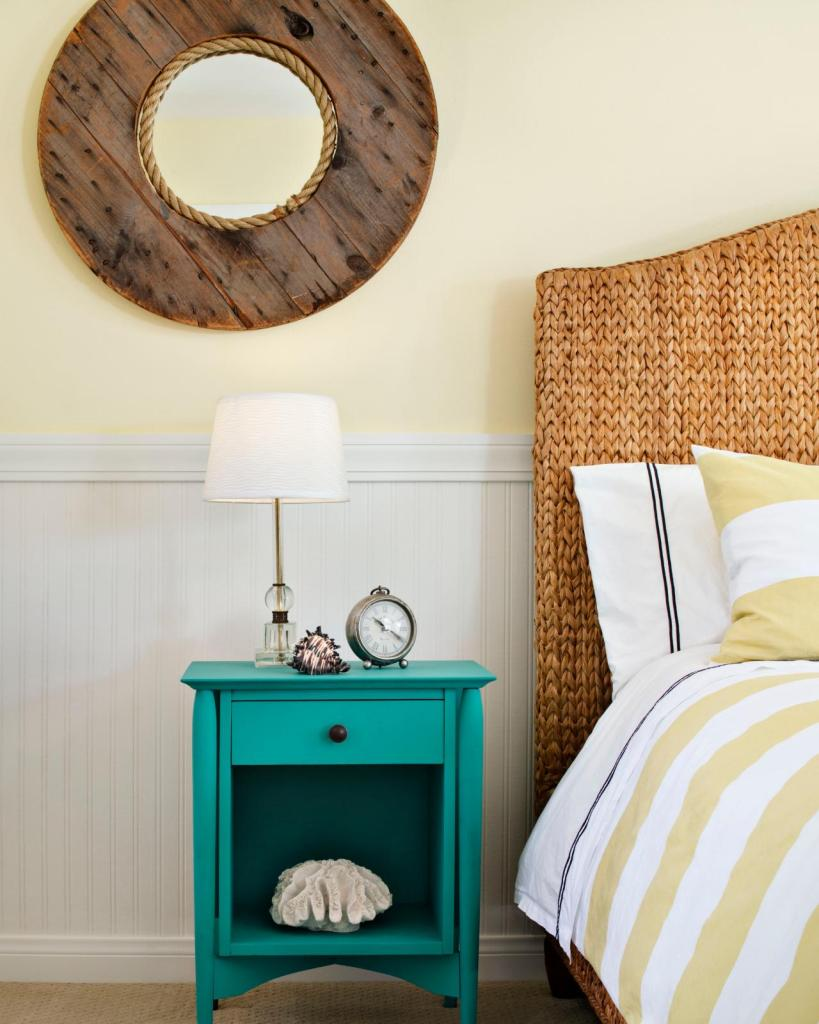 hgtv round wood mirror
