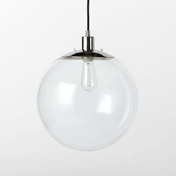 clear globe pendant west elm